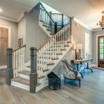 Custom Staircase & foyer of home by Hannah Custom Homes