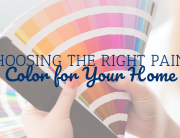Choosing the Right Paint Color for Your Home