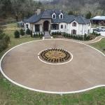 Bird's eye view of custom home built by Hannah Custom Homes