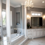 bathroom by Hannah Custom Homes