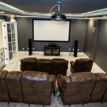 custom design entertainment/man cave by Hannah Custom Homes