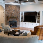 Beautiful living room design by Hannah Custom Homes